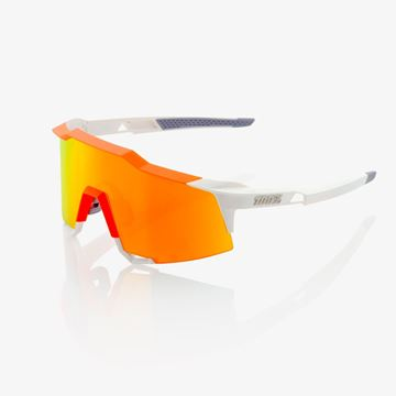 Immagine di Occhiali 100% SpeedCraft Tall White/Neon Orange- HD Red Multilayer Mirror