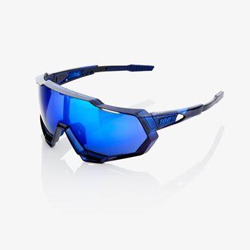 Immagine di Occhiali 100% Speedtrap Polished Translucent Blue-Elettric Blue Mirror
