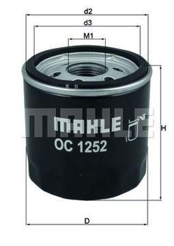 FILTRO OLIO MAHLE OC1252 CITROEN/FORD/LAND ROVER/PEUGEOT