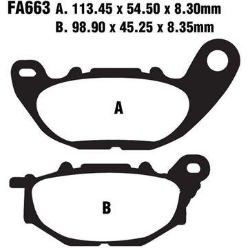 Immagine di EBC FA663HH Yamaha MT-03 320 A ABS anteriori