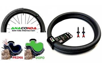 "Immagine di Barbieri Anaconda Run Flat 29"" TG.S Kit Mousse + Valvole Tubeless Carbonaria"