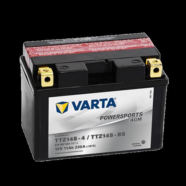Immagine di Batteria Moto Varta POWERSPORTS AGM 511902023 TTZ14S-BS