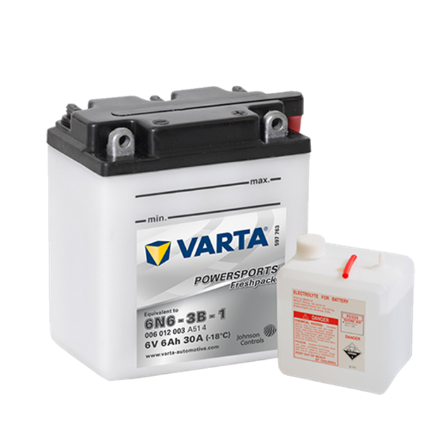 Immagine di Batteria Moto Varta POWERSPORTS Freshpack 006012003 6N6-3B-1