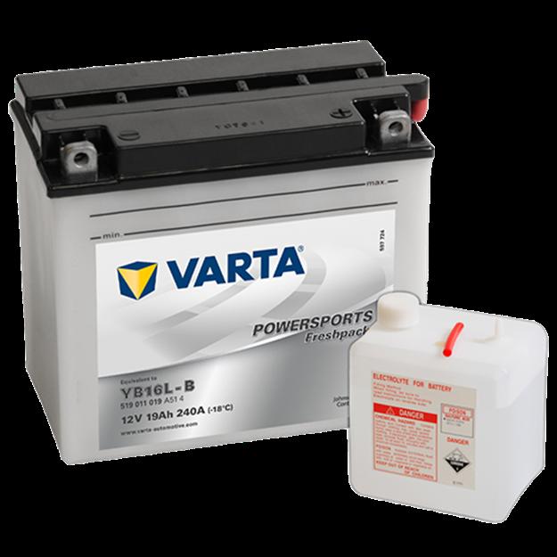 Immagine di Batteria Moto Varta POWERSPORTS Freshpack 519011019 YB16L-B