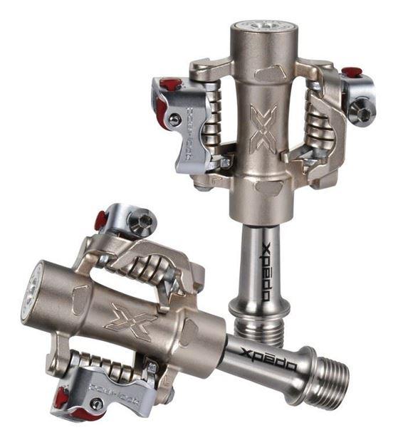 Immagine di Xpedo Pedali clipless m-force 8 ti titanio 9/16'' mtb compatibile Shimano