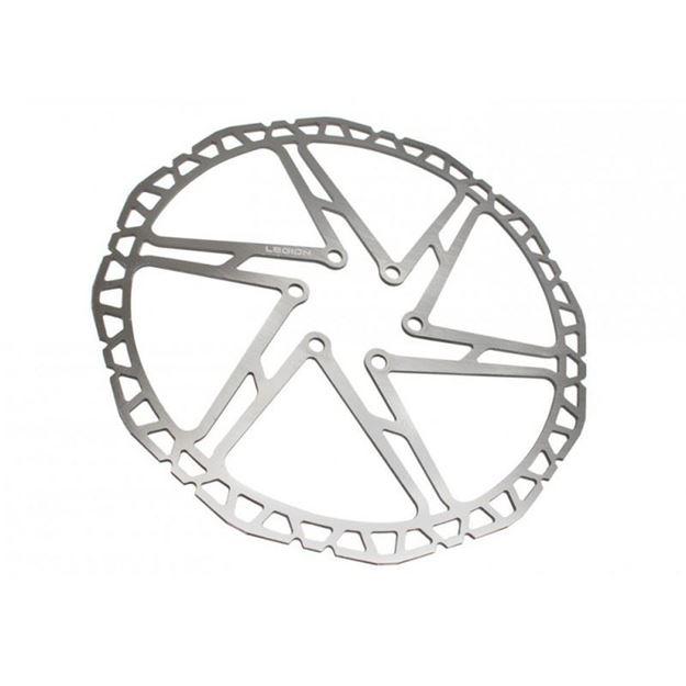 Immagine di Disco Freno Legion Discus 160mm 6 fori acciaio inox Argento