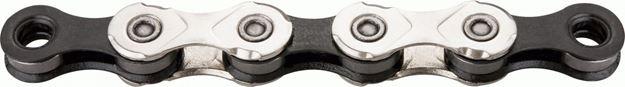 Immagine di KMC X11 Silver Black 118 maglie catena 11 velocità