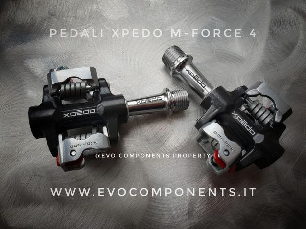 """Immagine di Pedali Xpedo M-FORCE 4 CR XMF4AC 9/16"""" MTB compatibile SPD nero argento"""