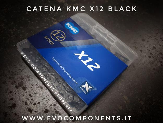 Immagine di Catena KMC X12 Black 126 maglie