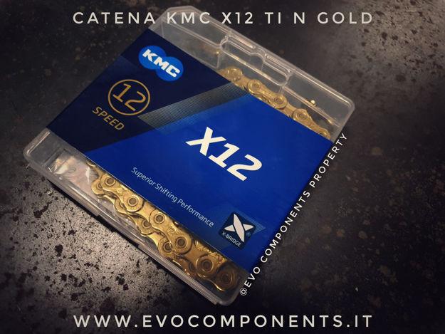 Immagine di KMC X12 Ti-N Gold Catena 12v