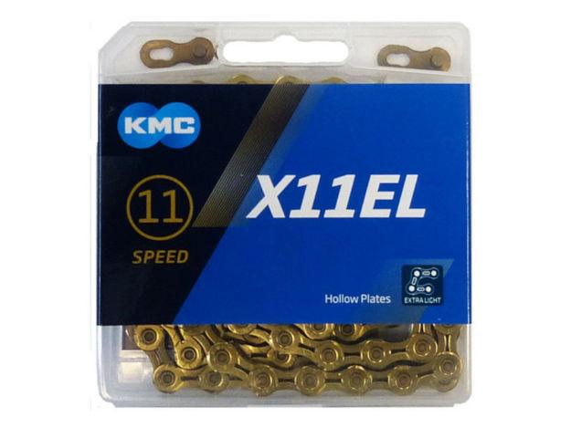 Immagine di KMC X11 EL Ti-N Gold 118 maglie catena 11 velocità