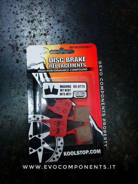 Immagine di Pastiglie freno Kool Stop Red 175 Magura (MT5,MT7) organiche