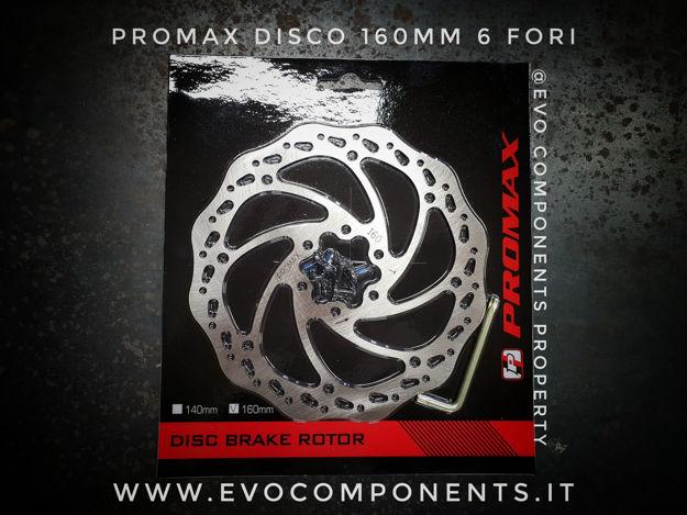 Immagine di Promax disco freno 160mm 6 fori